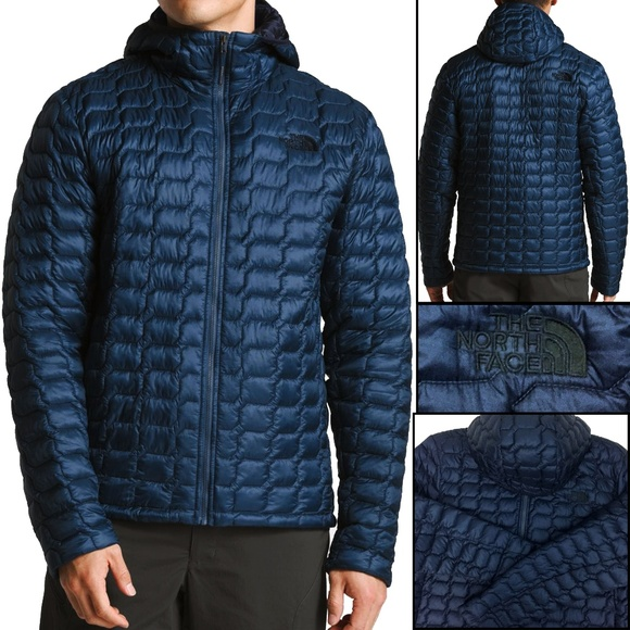 The North Face MEN'S THERMOBALL HOODIE Shady Blue NWT bdca93b85